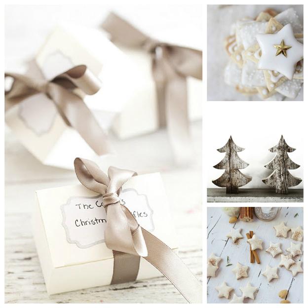 Decoración y Detalles Navideños combinando blanco y madera