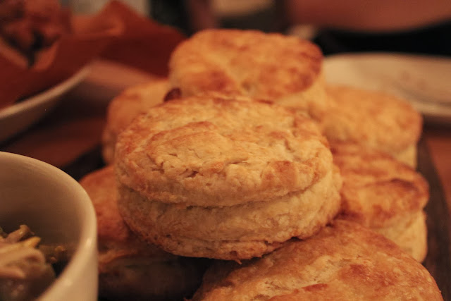 Biscuits and honey at Belly, Cambridge, Mass.