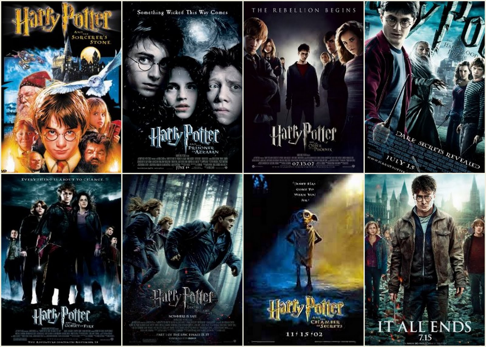 Harry Potter Book List Chronological Order : Lollapops it all ends