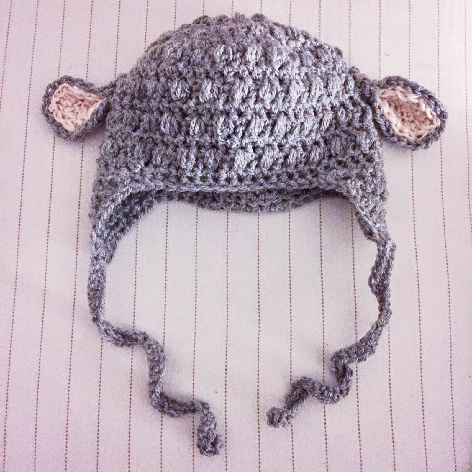 crochet hat lamb pattern barn virka mössa