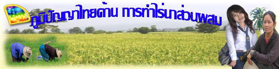 ภูมิปัญญาทางด้านเกษตรกรรม