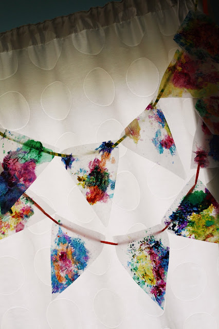Stained Glass Bunting - www.thelifeofawannabesupermom.blogspot.com