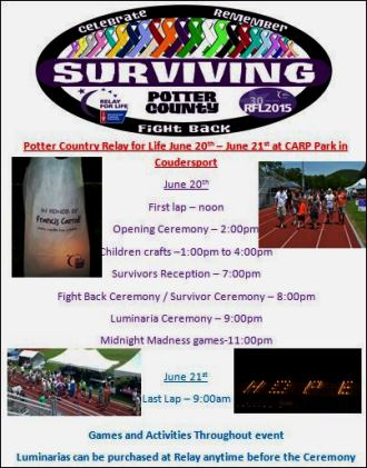 6-20 Potter County Relay For Life