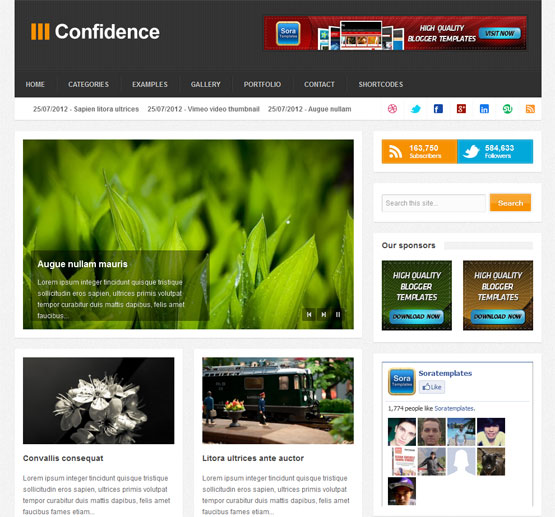 Confidence Blogger Template