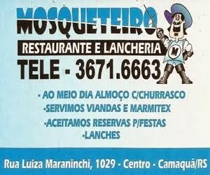 Mosqueteiro Restaurante e Lancheria - Camaquã/RS