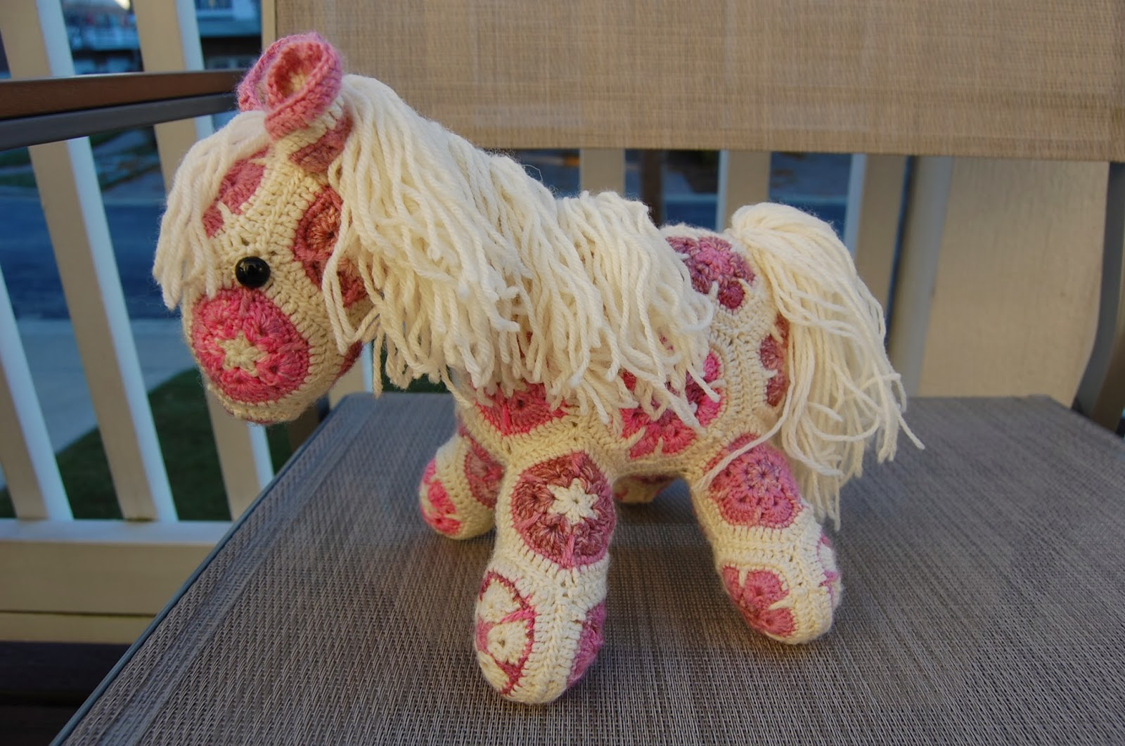 African Flower Pony Crochet Pattern : Roonie Ranching: Rose and Evelyns African Flower Ponies