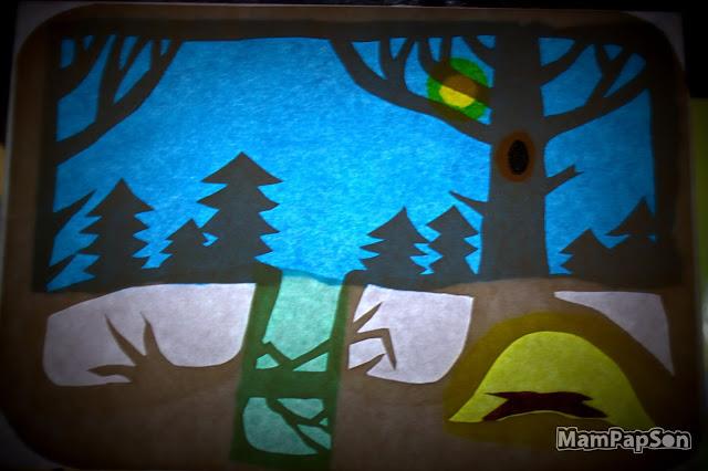 """Декорация для театра теней """"Почему медведь зимой спит"""""""