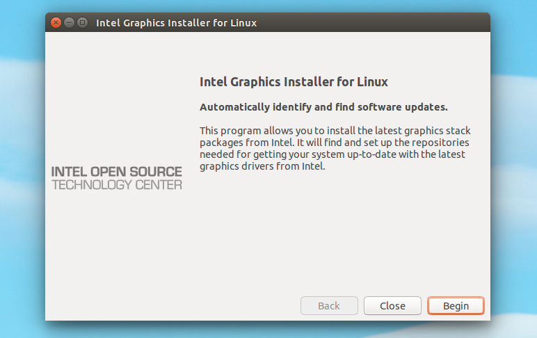 Intel Graphics Installer for Linux