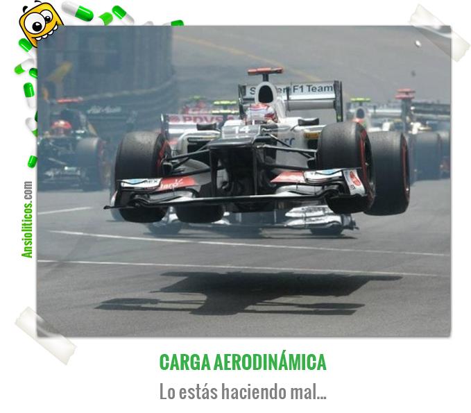 Chiste de Fórmula 1 de Carga Aerodinámica