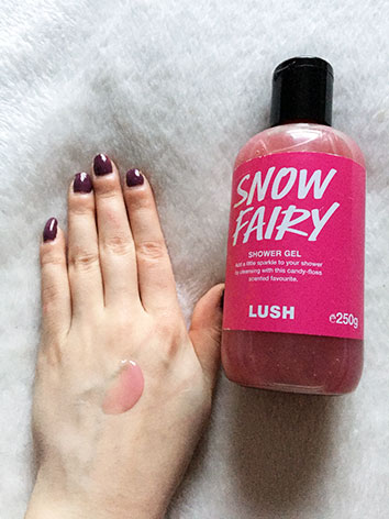 Snow Fairy shower gel.