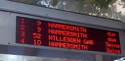 aplicación para saber los horarios de los buses en londres