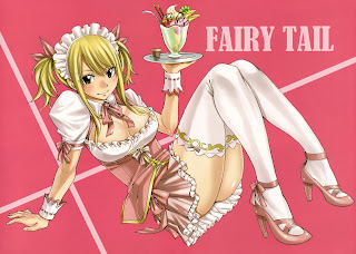 Lucy Heartfilia Sexy Maid Cleavage Fairy Tail Girl Anime HD Wallpaper Desktop PC Background 1925