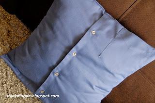 poszewka poduszka z koszuli koszulowa