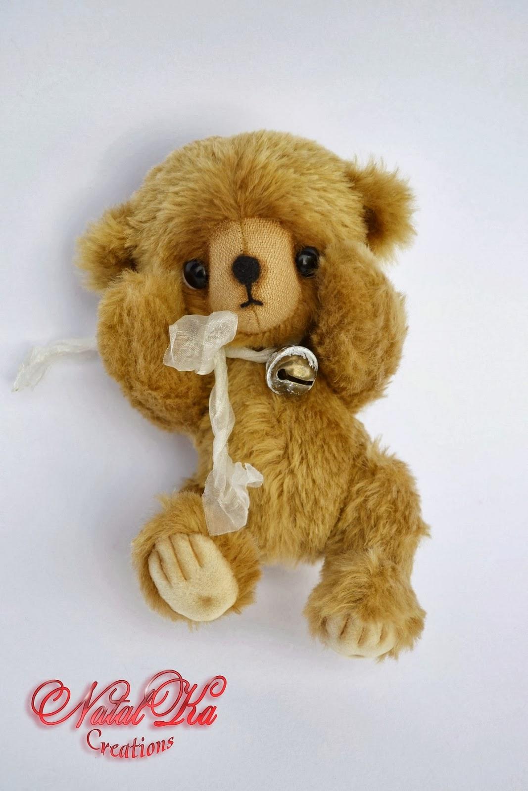 Artist teddy bear handmade by NatalKa Creations. Авторские мишки тедди ручной работы от NatalKa Creations.