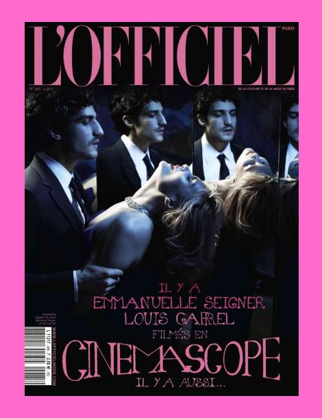 Louis Garrel & Emmanuelle Seigner for L'Officiel Paris