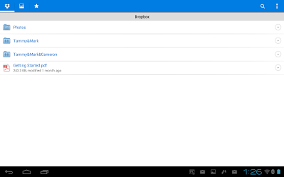 DropBox for Android - DropBox Folders