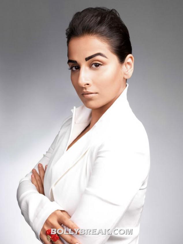 Vidya balan white jacket hot pic - (3) -  Vidya Balan Harper's Bazaar March 2012