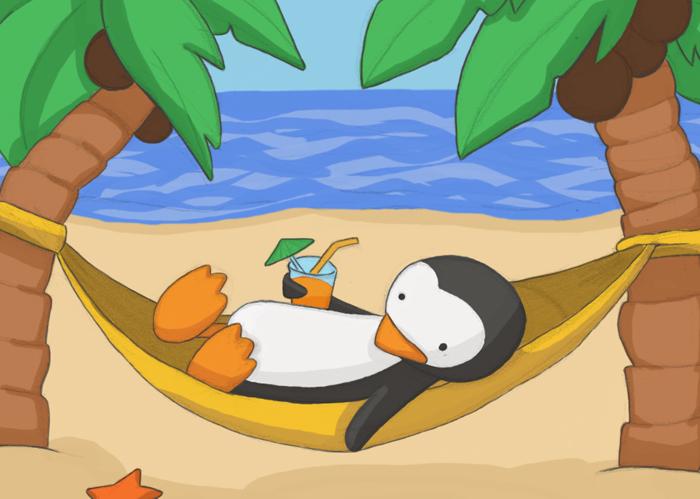 Aegyo va casser la baraque ! - Page 2 Pingouin+au+soleil