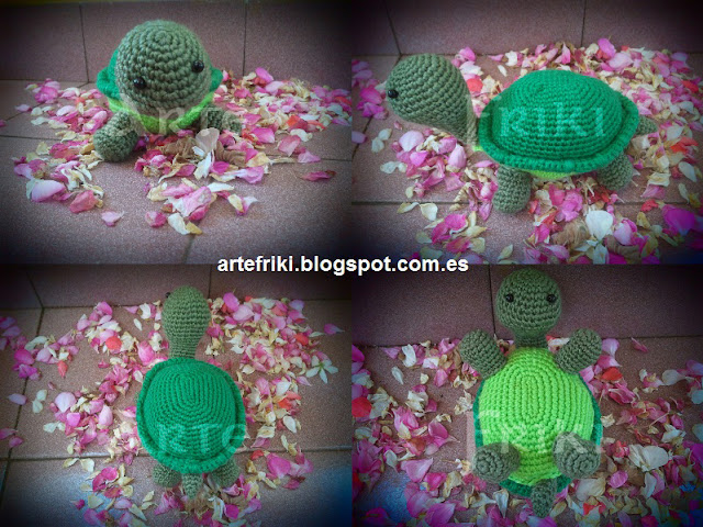 tortuga amigurumi turtle tortoise crochet ganchillo doll animal muñeco