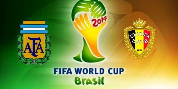 Hasil Skor Akhir: Argentina vs Belgia (Perempat Final) 8 Besar Piala Dunia 5 Juli 2014