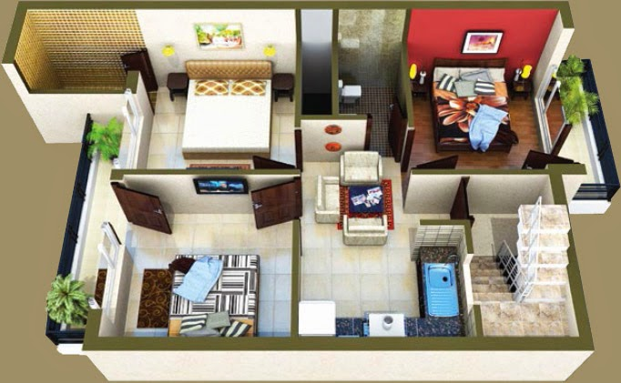 Layout  Arcadia Gold Homes 3 Bedroom Floors Lalru  Book Now: +91-9023407035