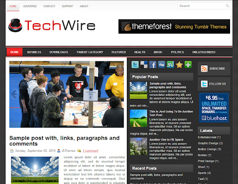 TechWire Blogger Theme
