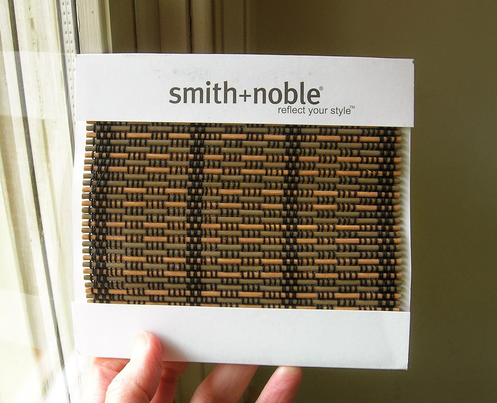 My little bungalow window coverings for the mudroom for Smith and noble natural woven shades