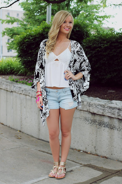 Adorable Day and Night Kimono