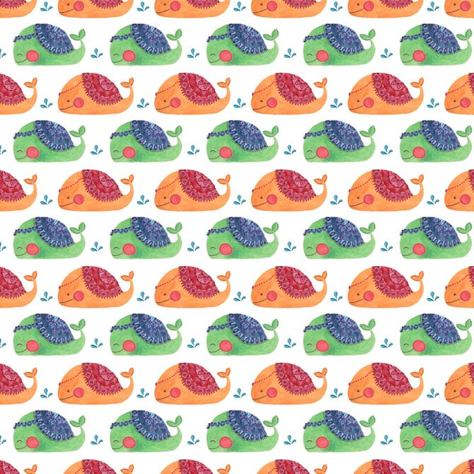 The Whale Pattern Printed on Merchandise Illustration by Haidi Shabrina