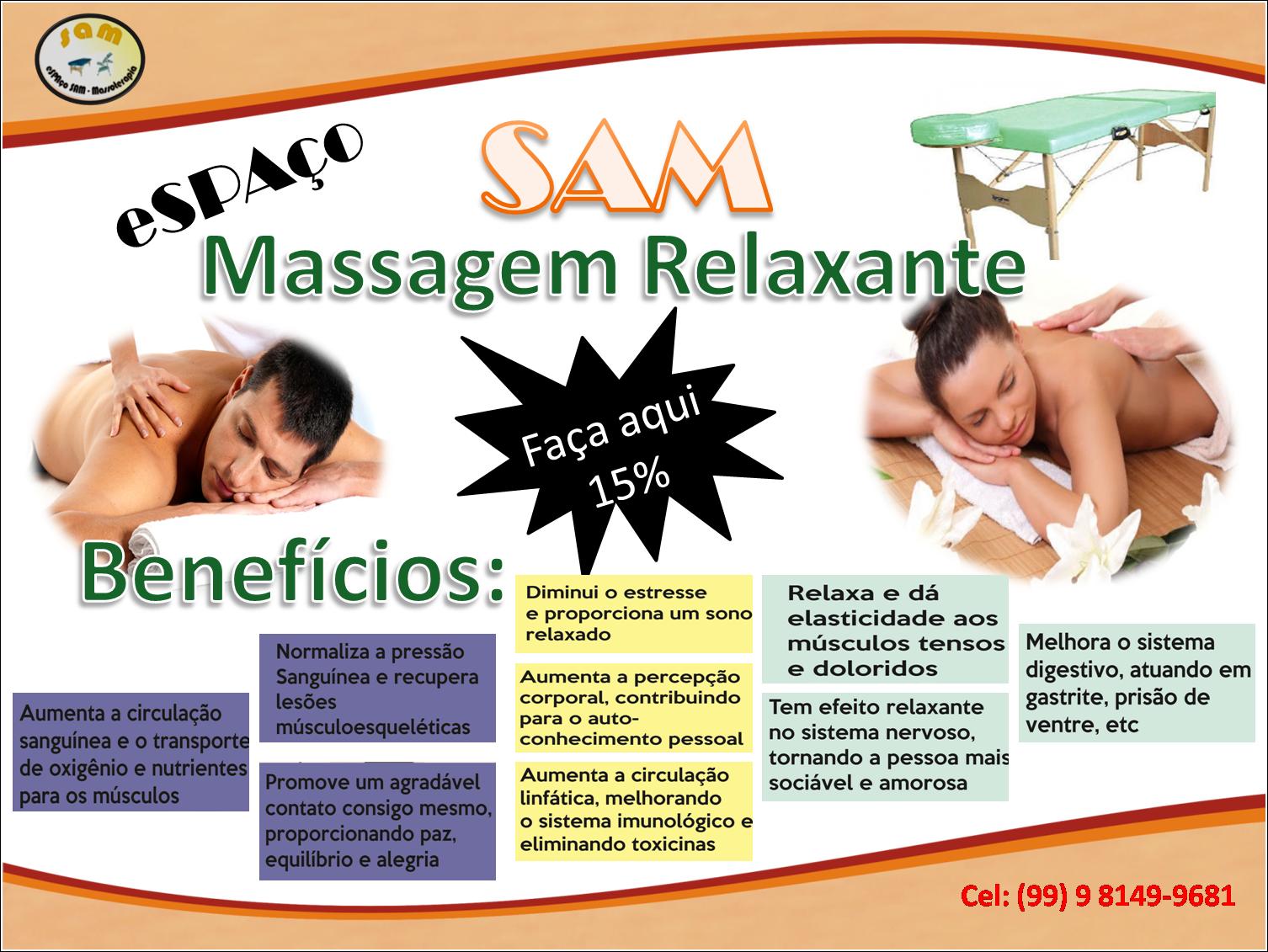 Marque já uma massagem relaxante aqui