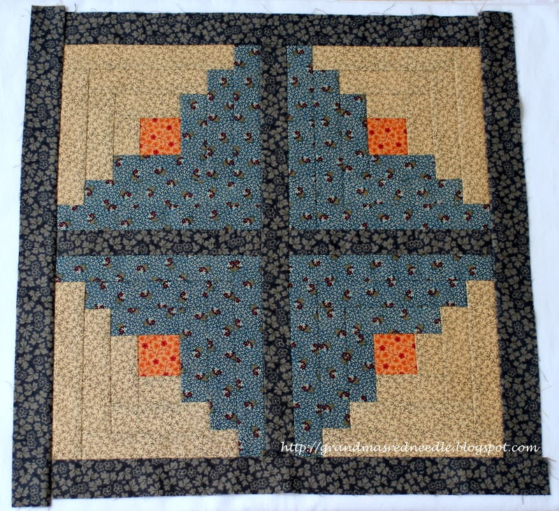 Red Needle Quilts: Scrappy Queen Size Log Cabin Quilt and a few more finishes
