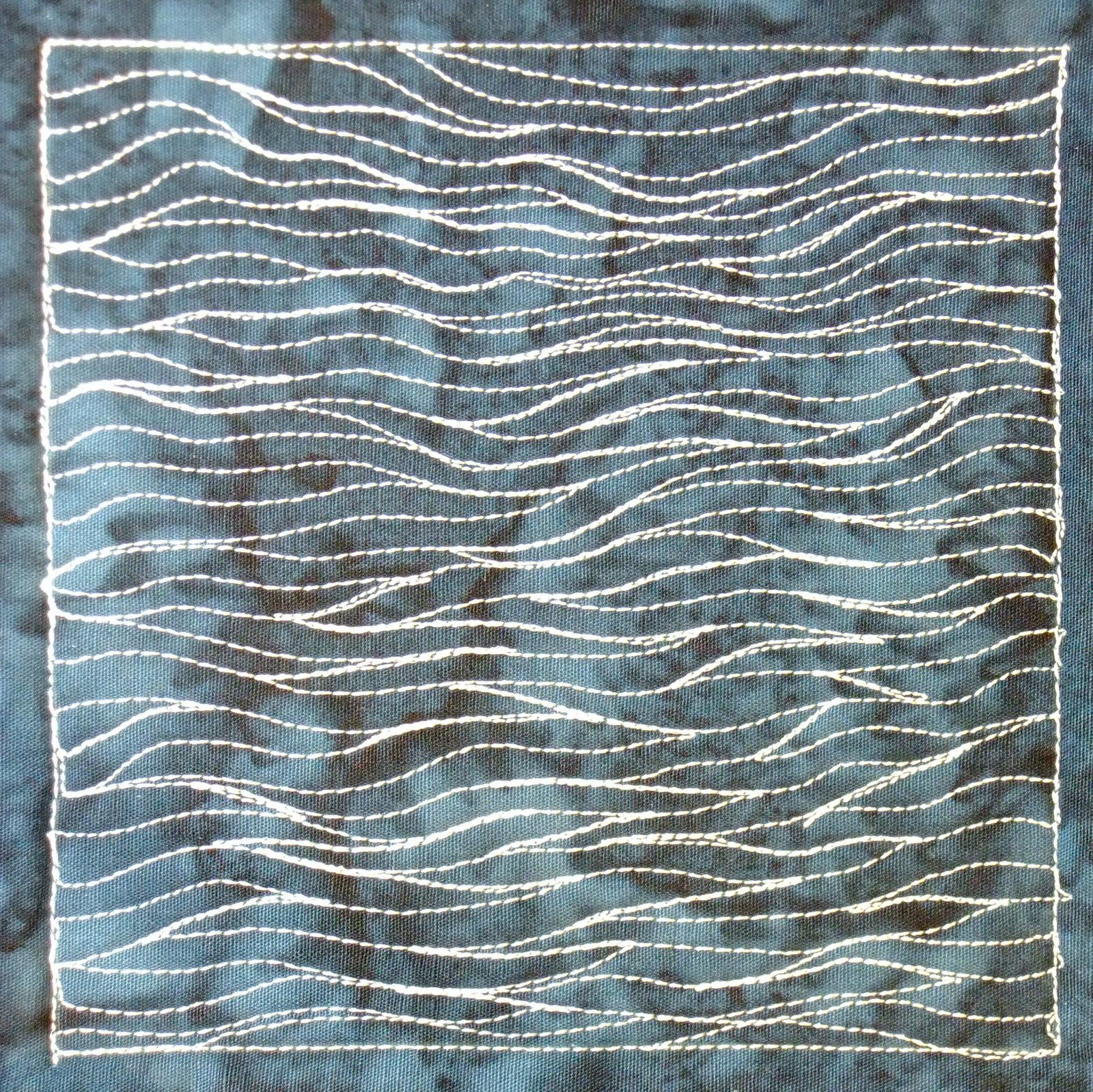 The Free Motion Quilting Project: Day 281 - Calm Sea : free motion quilt designs - Adamdwight.com