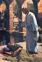 imagen de jesus sanando a un paralitco