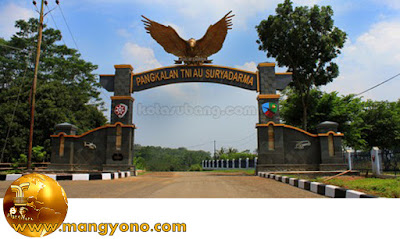 Main gate of air base Suryadarma, Kalijati, Subang.