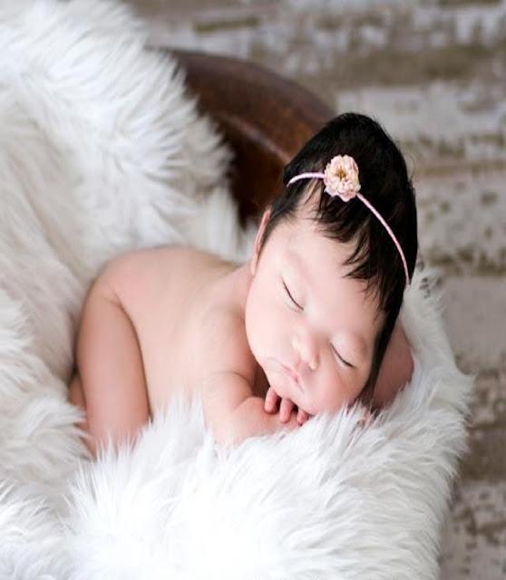 Photo d'un vrai ange qui dort en paix