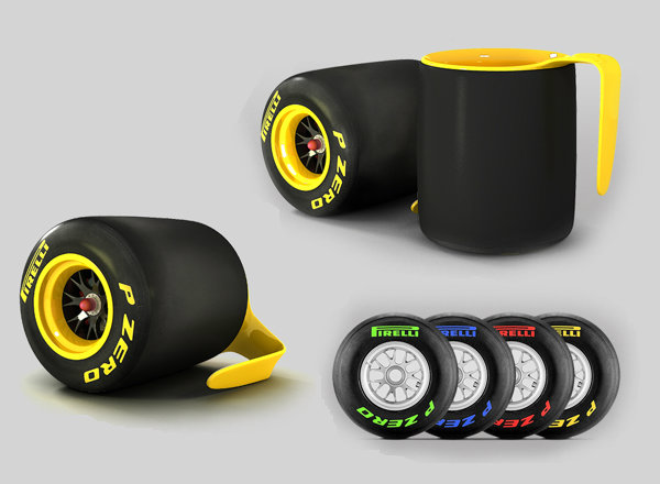 Pirelli Inspired Coffee Mug For Formula One Racing Fans