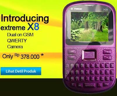 Ponsel Nexcom extreme X8 harga specs