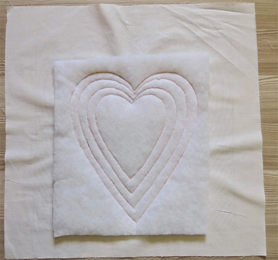 Valentine's Day Quilted Pillow
