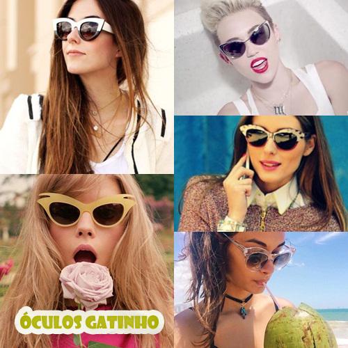 Flavia Desgranges   Miley Cyrus   Olivia Palermo   Gizele Oliveira. O óculos  gatinho ... d2f985a067