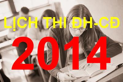 Lịch thi tuyển sinh đại học năm 2014