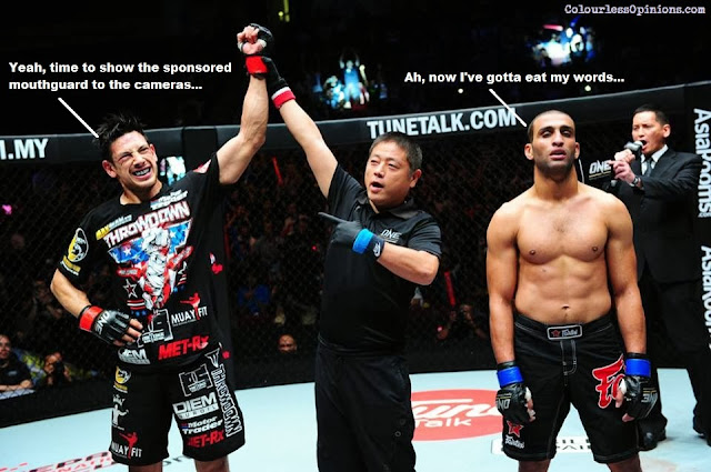 Peter Davis victorious against Alaa Mazloum in ONE FC 12 Warrior Spirit