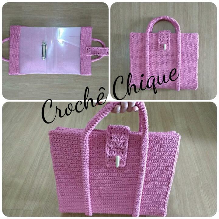 Bolsa De Croche Para Casamento : Croch? chique bolsa fich?rio