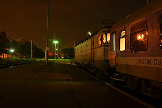 Cu trenul in gara Brasov