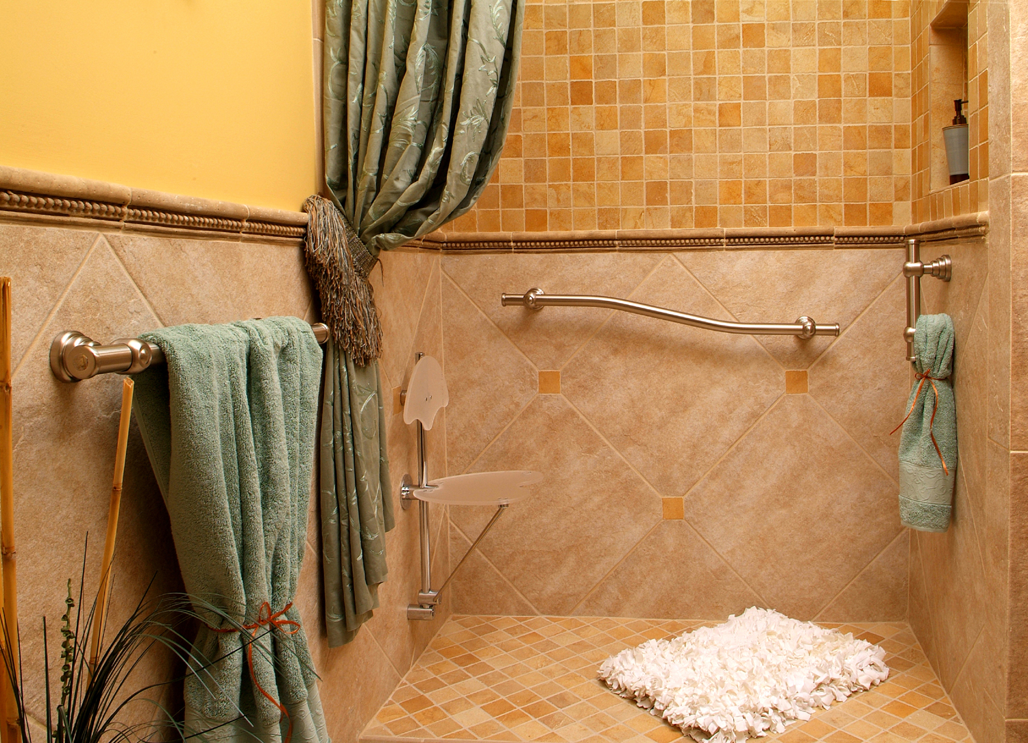 how to put down tile in bathroom