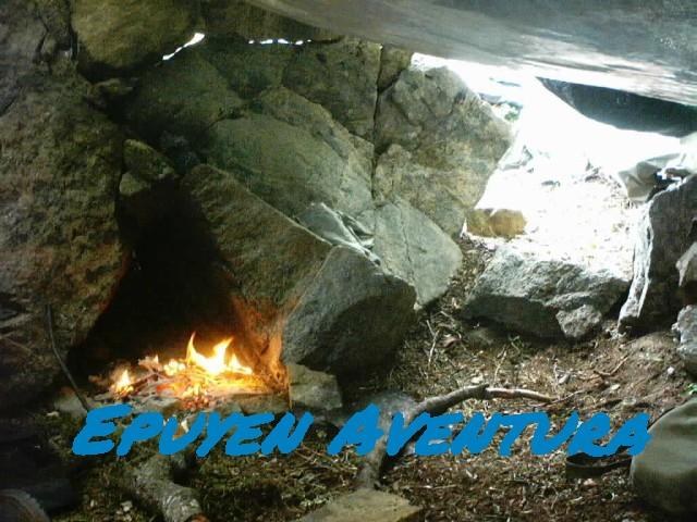 Haciendo fuego supervivencia - Patagonia Andina
