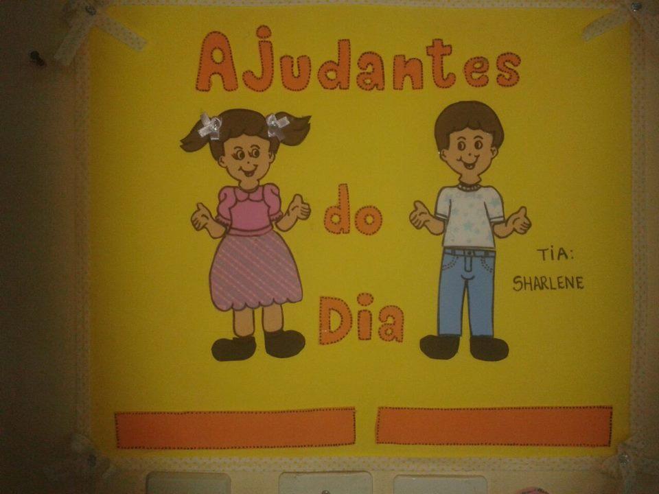 Cartaz Ajudante do Dia Menino e Menina