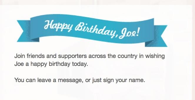 Happy Birthday Vice President Joe Biden – Birthday Cards from the President