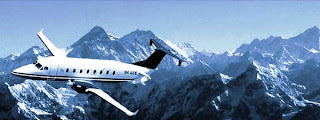 Mountain flight in Nepal Himalaya