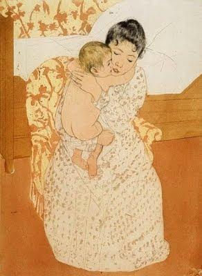 Carícia maternal (Mary Stevenson Cassatt)