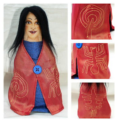 Nazca cloth art doll